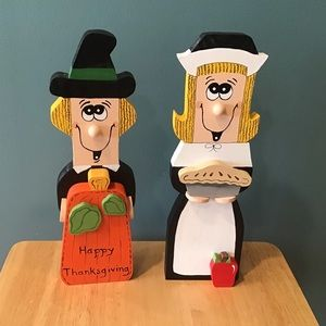 🌽HANDMADE THANKSGIVING PILGRIMS
